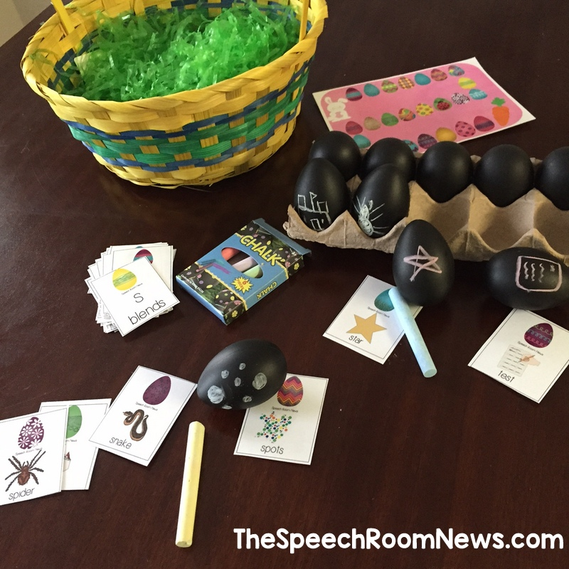 Say  & Draw Articulation Easter Eggs from Speech Room NEws
