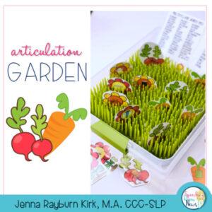 Speech Therapy Articulation Garden Download