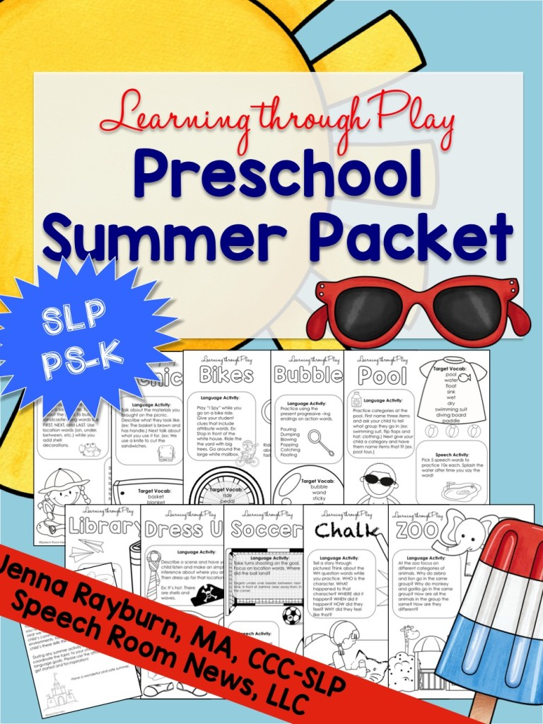Learning Through Play: Preschool Summer Packet
