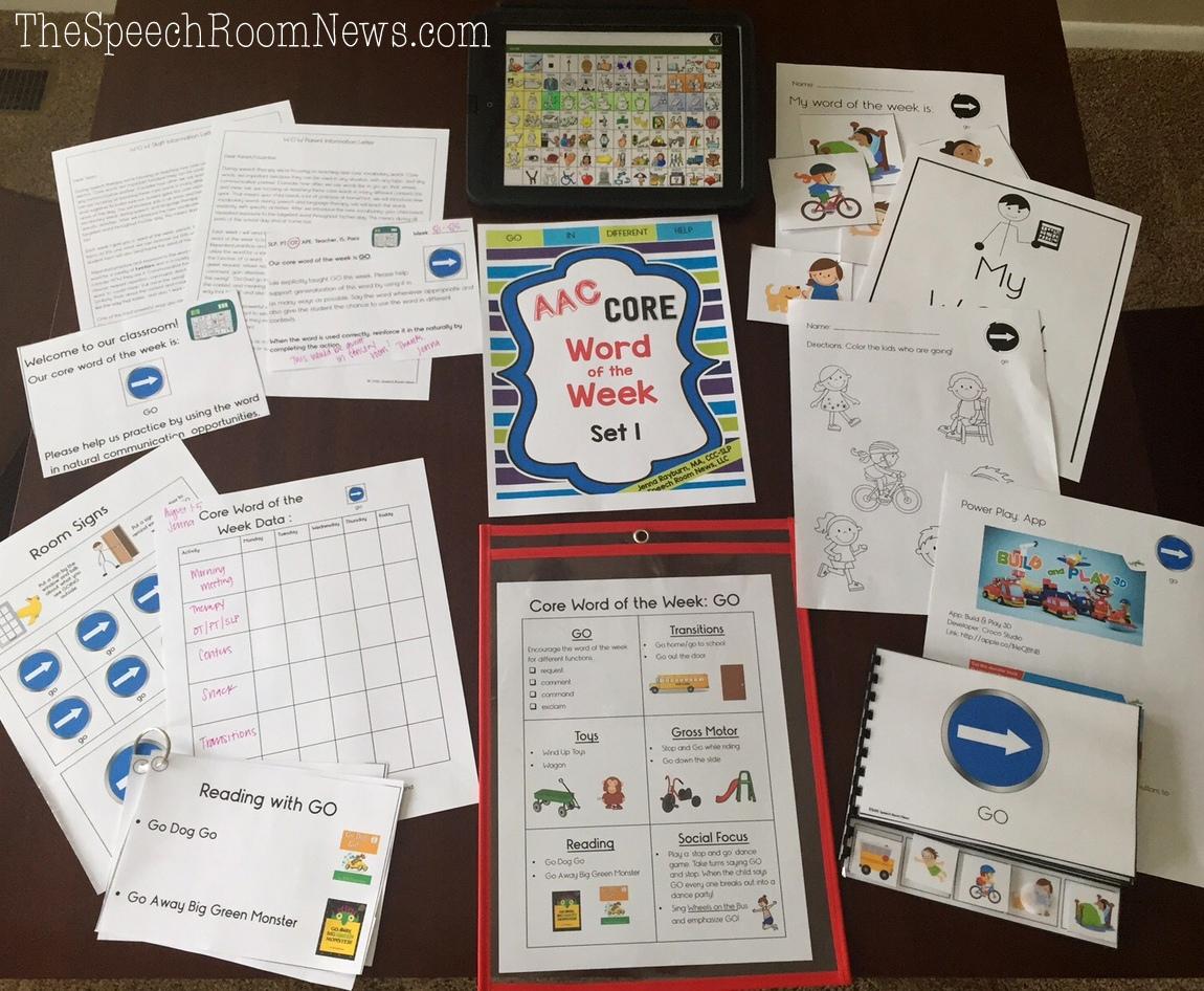 Collaborative Teaching Websites ~ Aac core word of the week speech room news