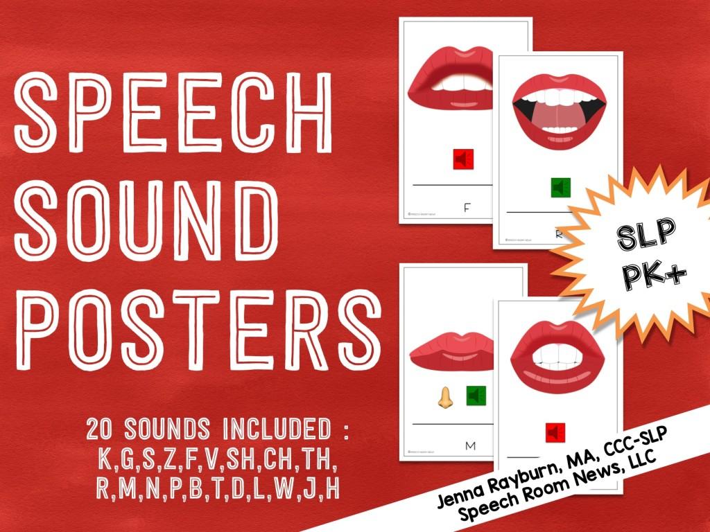 Speech Sound Posters from Speech Room News