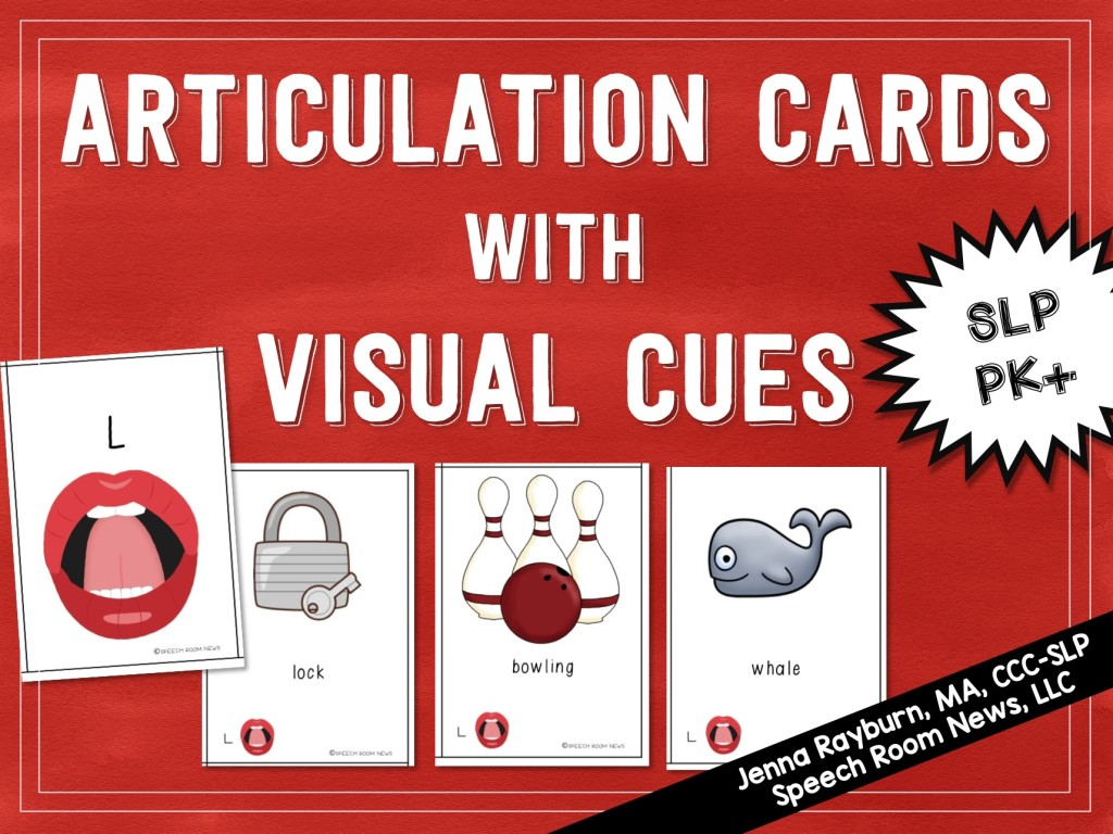 Articulation Cards with Visual Cues from Speech Room News