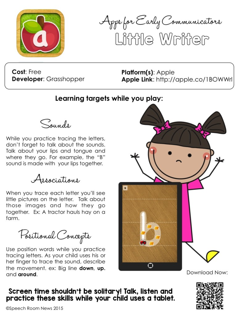 Speech Therapy Apps for Parents from Speech Room News