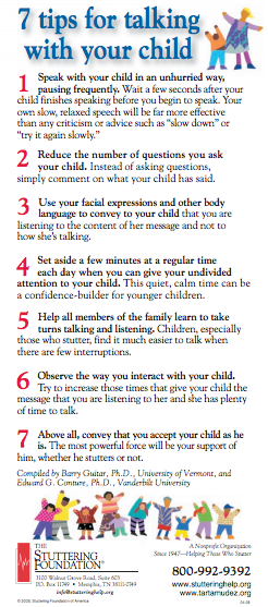 Stuttering Handout for Parents