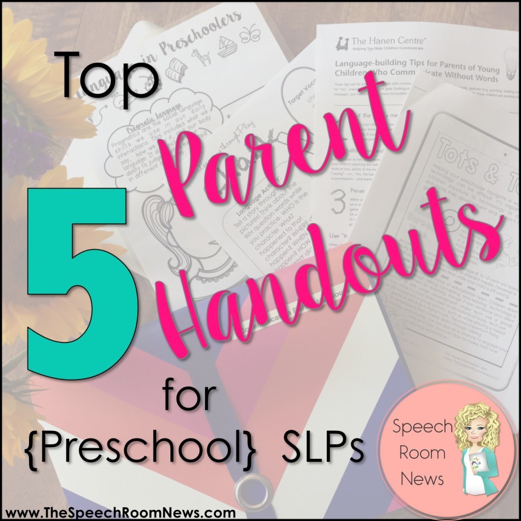 Top5ParentHandoutsforSLPs