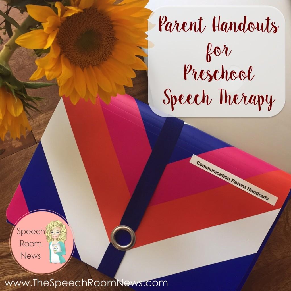 Preschool Handouts for SLPs