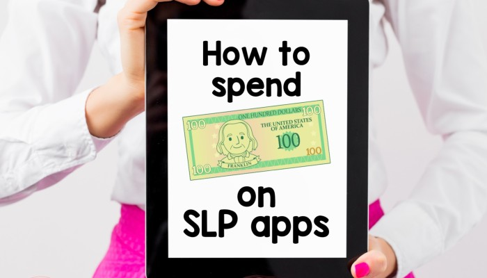 How to spend $100 in Speech Therapy Apps {Elementary Aged}