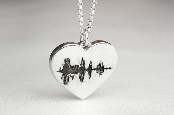 Sound wave jewelry