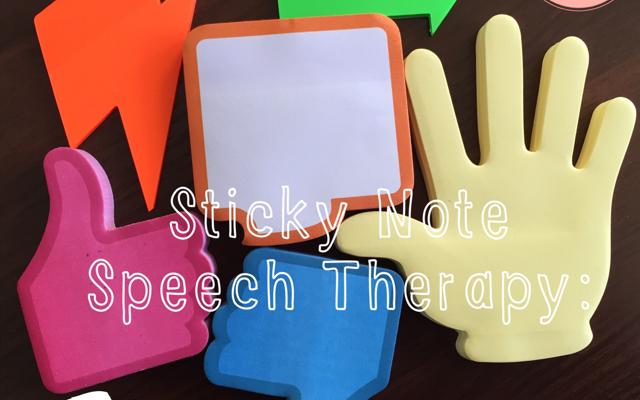 Sticky Note Speech Therapy: Social Skills