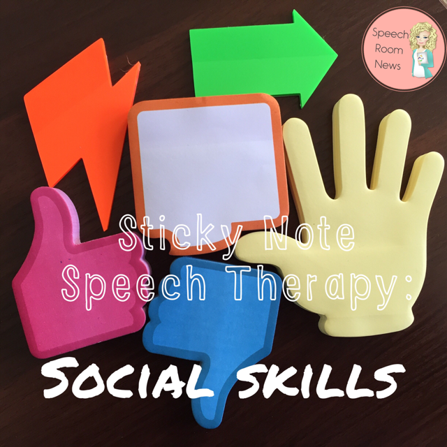 Sticky Note Speech Therapy: Social Skills