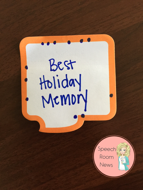 Sticky Note Social Skills Speech Therapy