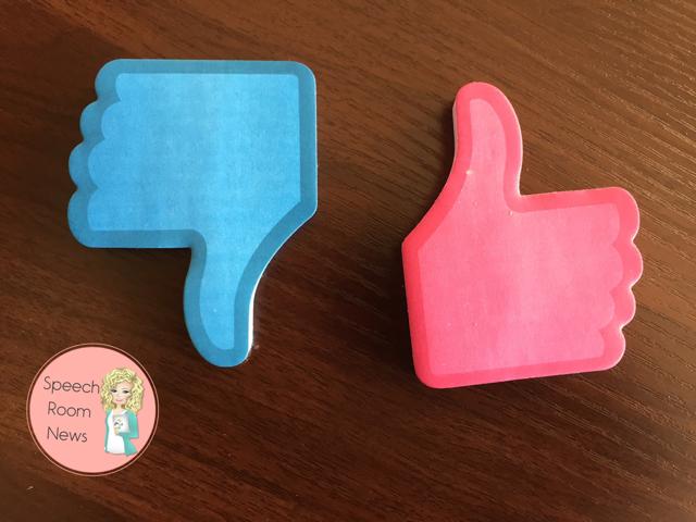 Sticky Note Social Skills Speech Therapy