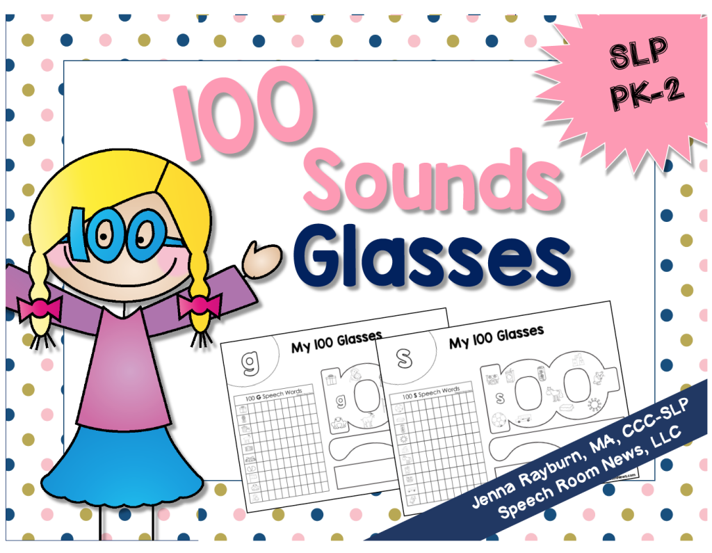 100th Day Speech Therapy Glasses