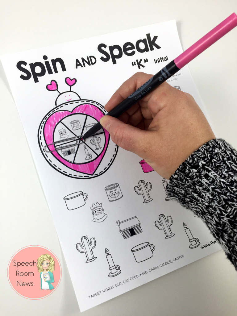 Spin and Speak Love Bugs for Speech Therapy