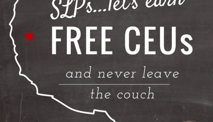 Free CEUs for SLPs