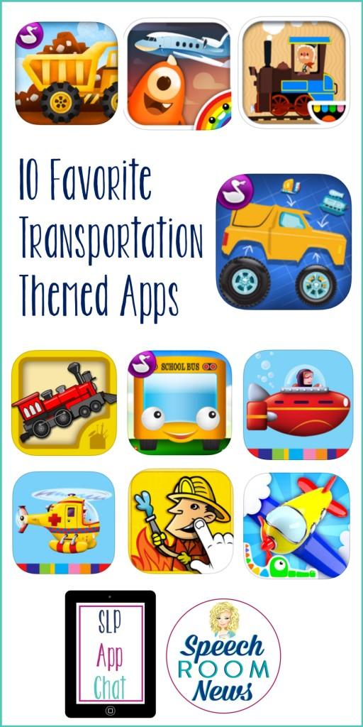 10 Favorite Transportation Themed Apps