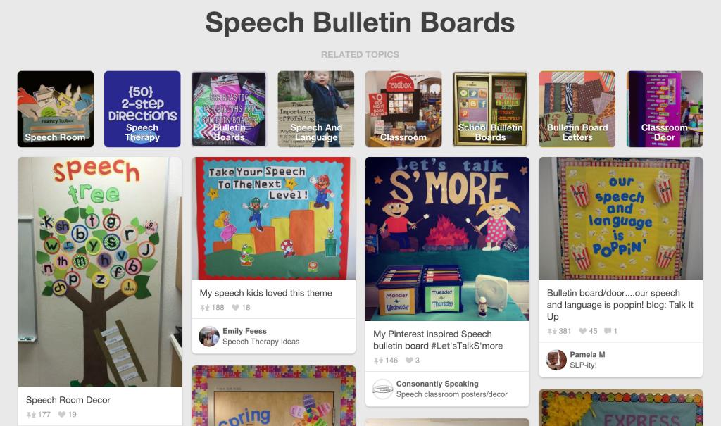 SLP Bulletin Boards