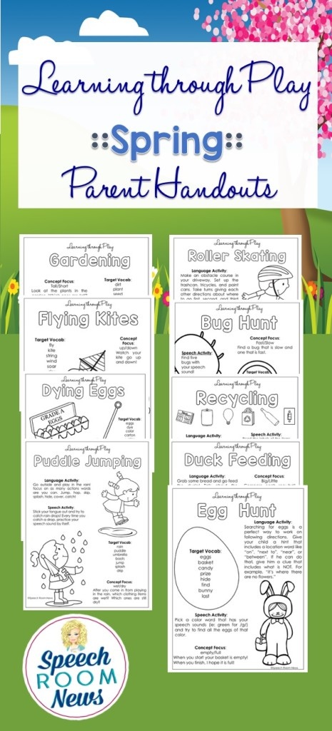 Spring Learning Through Play Handouts