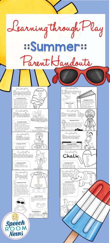 Summer Learning Through Play Handouts