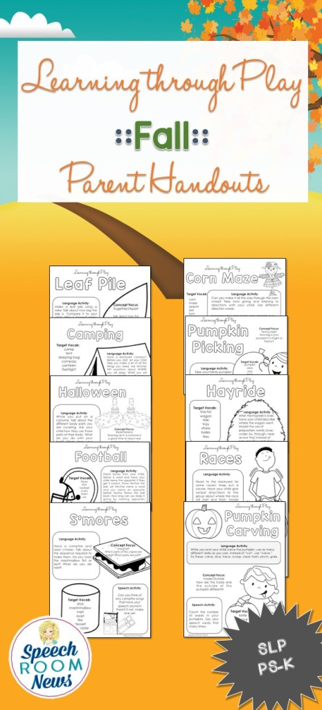 Fall Learning Through Play Handouts