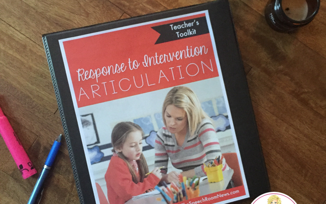 Response to Intervention Articulation