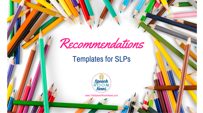 Speech and Language Report Recommendations