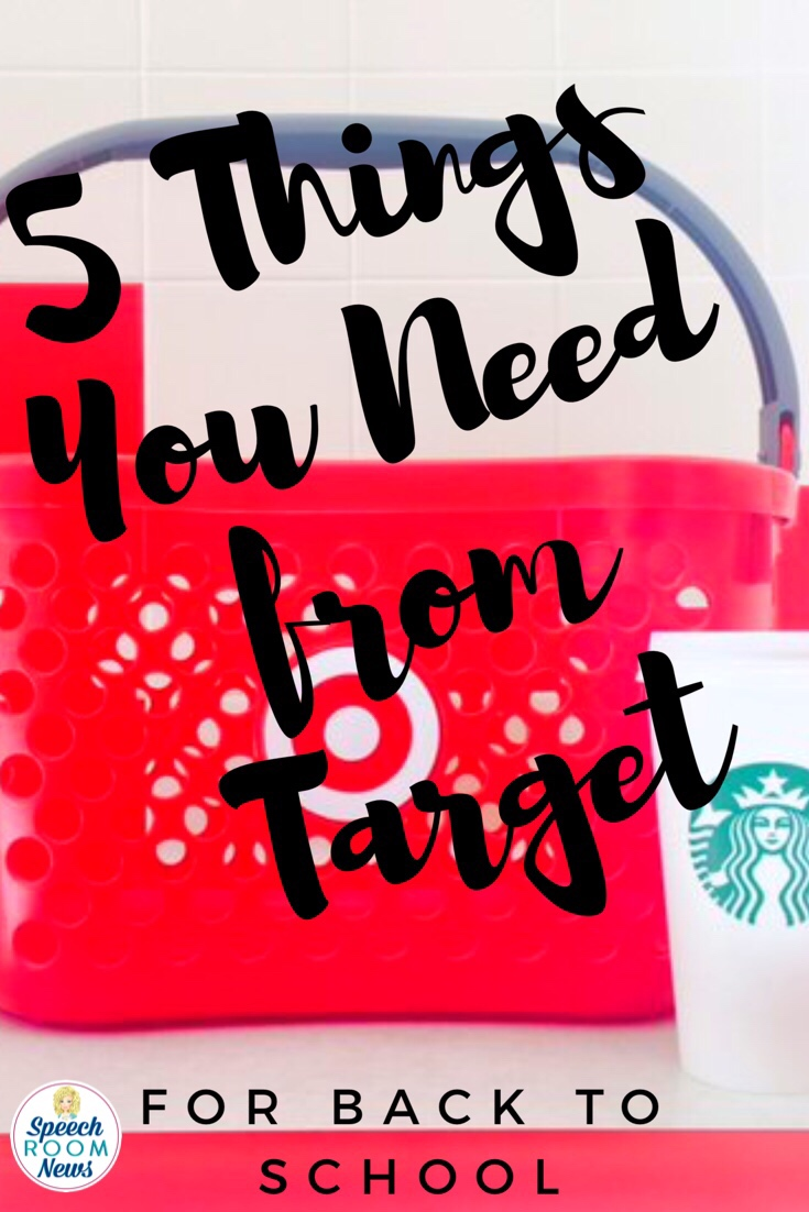 5 Things you need from Target for Back to School