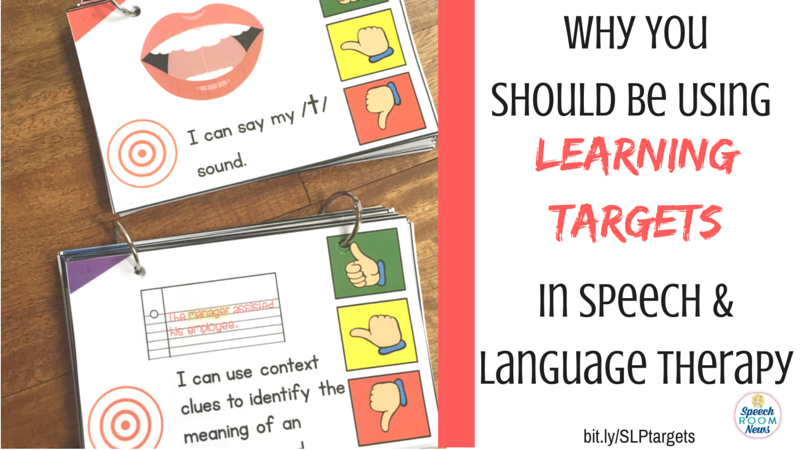 Learning Targets for Speech and Language Therapy