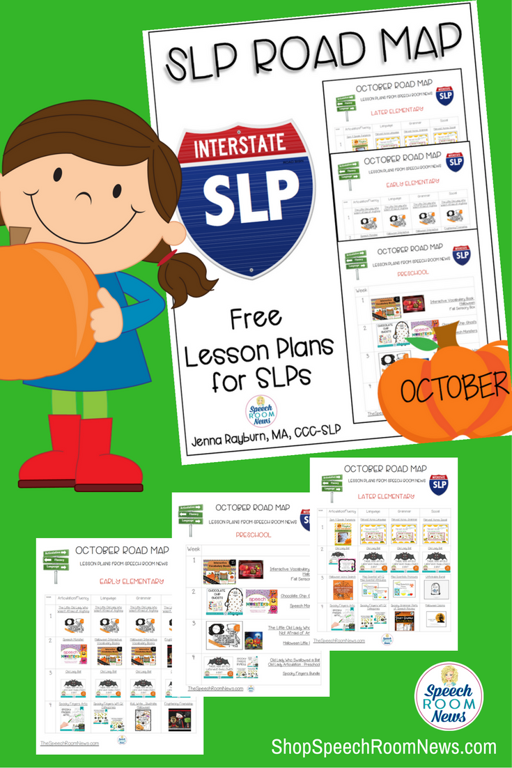 Free October Speech Therapy Lessons plans