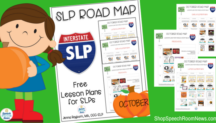 Free October Lesson Plans for SLPs