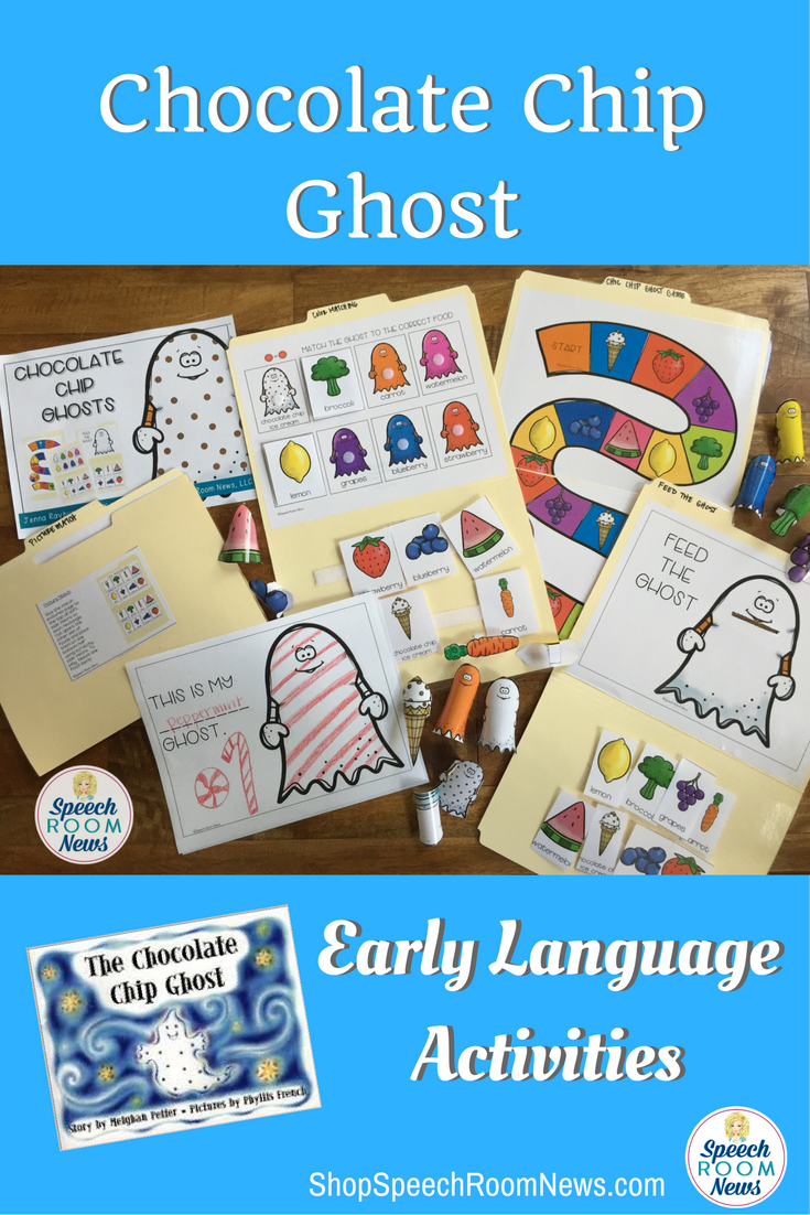 Chocolate Chip Ghost Early Language Activities