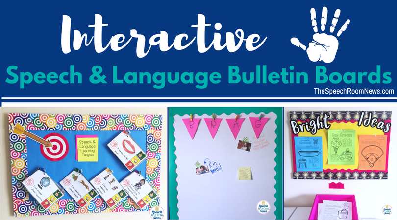 Interactive Speech And Language Therapy Bulletin Boards