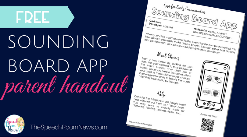 Sounding Board AAC App Parent Handout