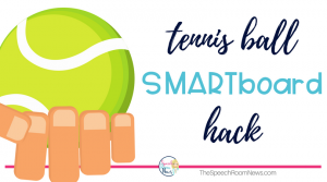 SMARTboard hack for speech therapy