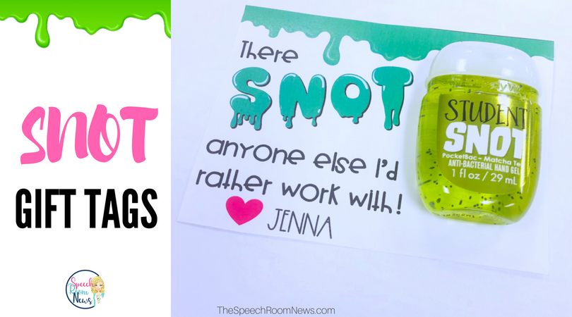 Snot Teacher Gift Tags