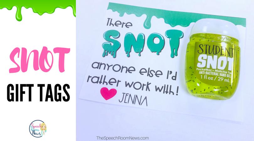 Snot Teacher Gift Tags