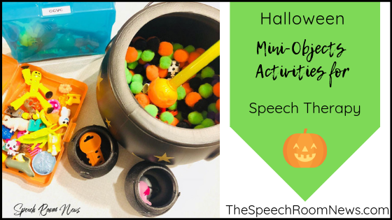 Halloween Speech Therapy Ideas for Mini Objects