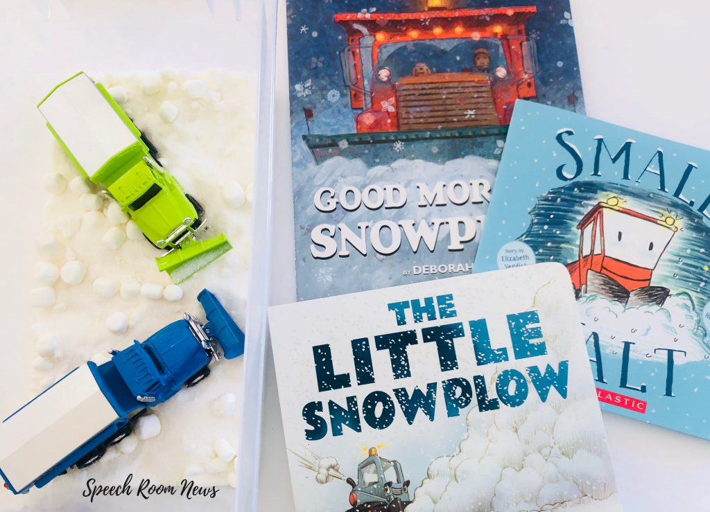 Snowplow Sensory Bin