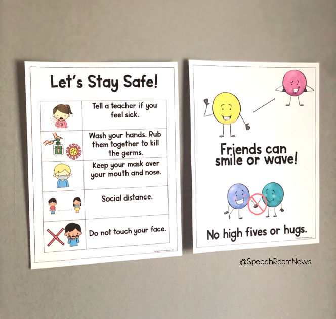 Posters that give COVID-19 safety signs and rules.