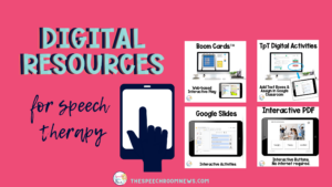 Title photos shows four types of technology for speech therapy