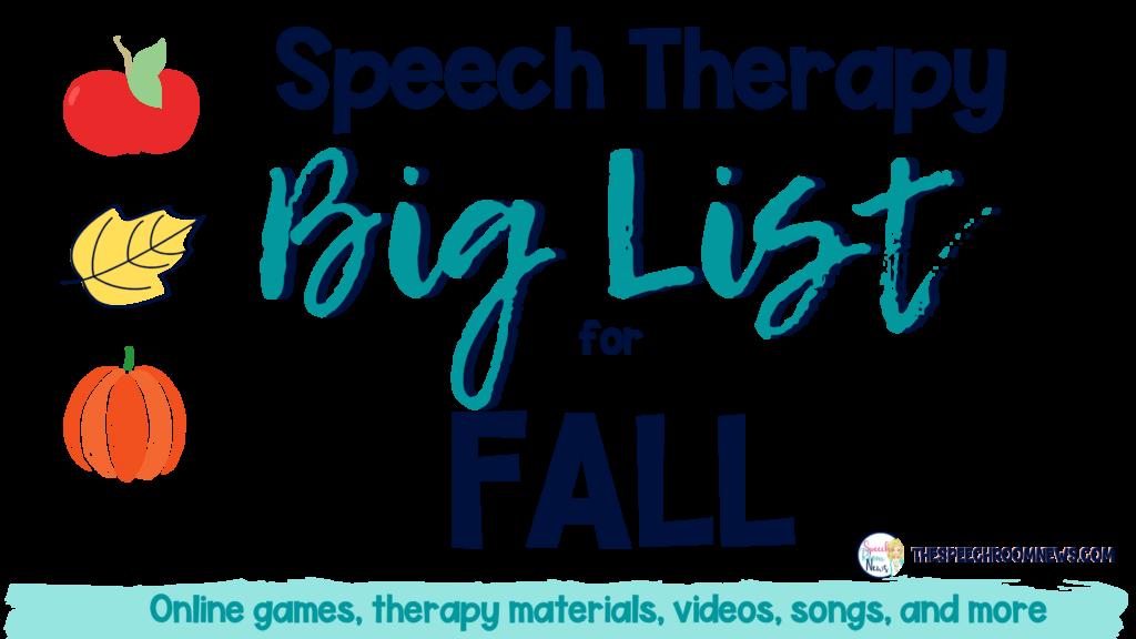 Photo of Fall speech therapy meme equipment: big list