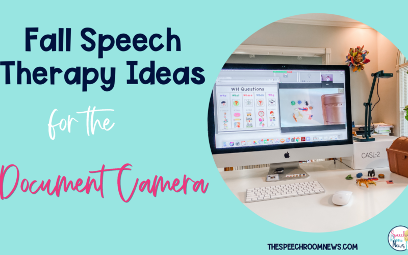 Fall Speech Therapy Ideas for the Document Camera