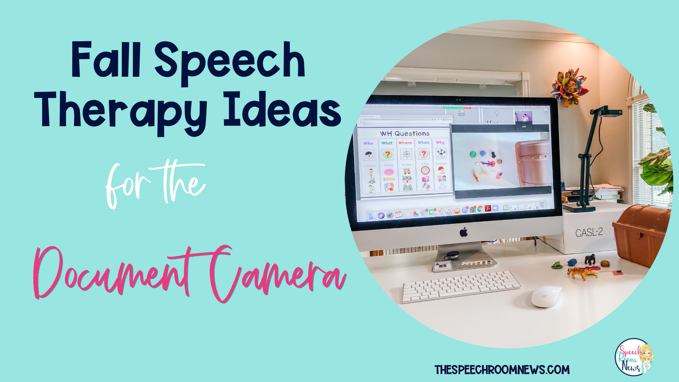 Photo of Fall speech therapy ideas for the document camera