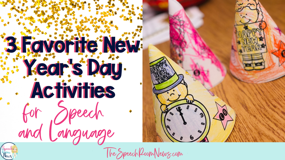 Photo of New Year's activities for speech and language