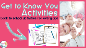 Get to Know You Activities